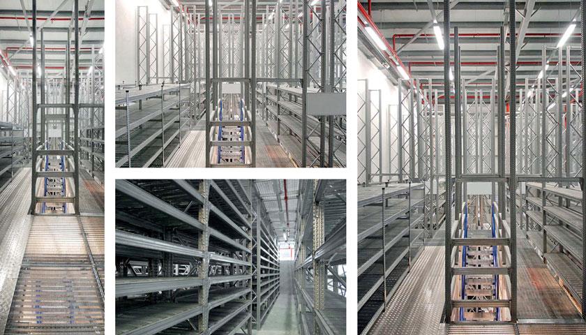 particolari scaffalature industriali in acciaio
