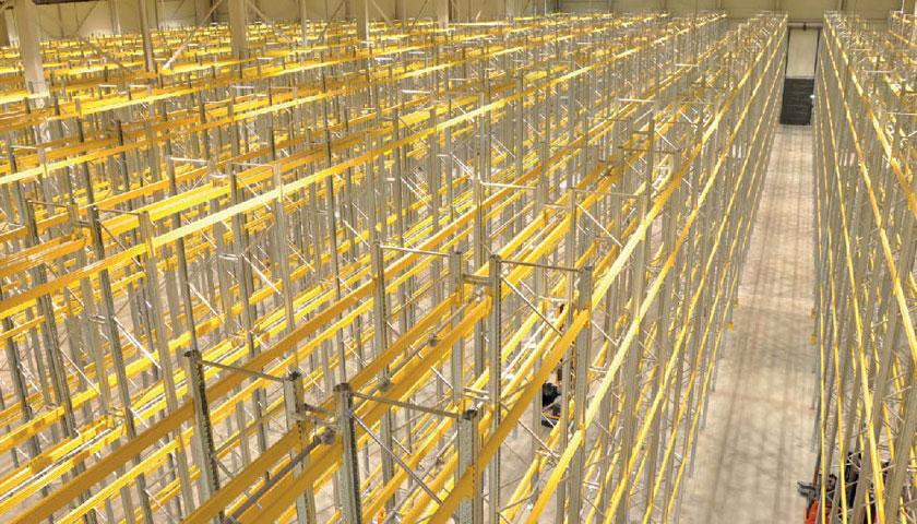 scaffali portapallets unibuild per stoccaggio magazzino