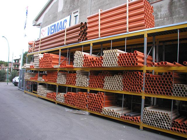 scaffalature industriali in abruzzo per prodotti lunghi