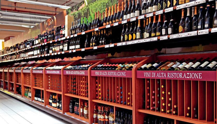 scaffalature per negozi e supermercati