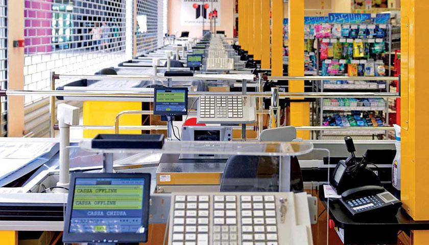 scaffalature casse supermercati