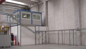 sistemi di trasporto aereo per magazzini