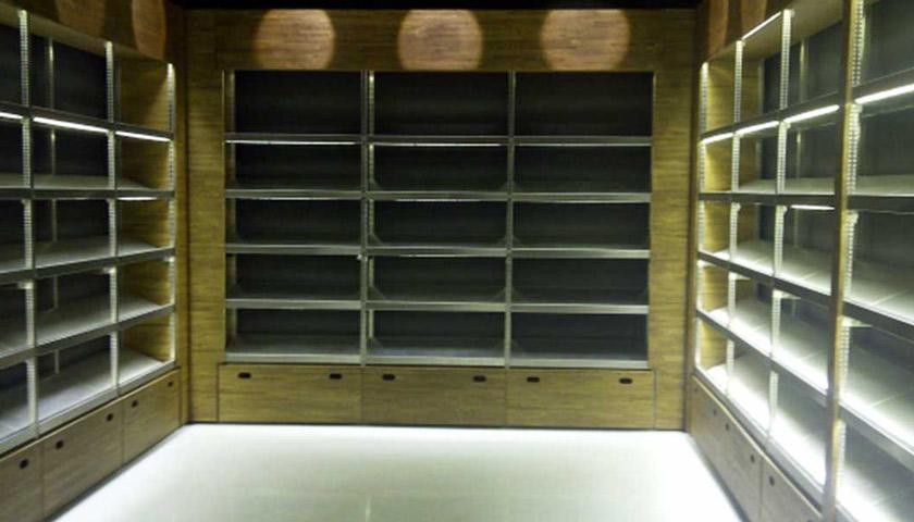 scaffali in acciaio celle frigorifere alimentari