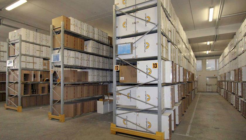 scaffalature per archivio prodotti