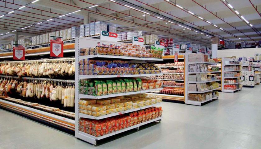 scaffalature metalliche supermercati