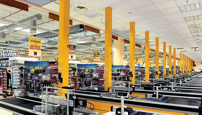 banchi cassa per casse supermercato