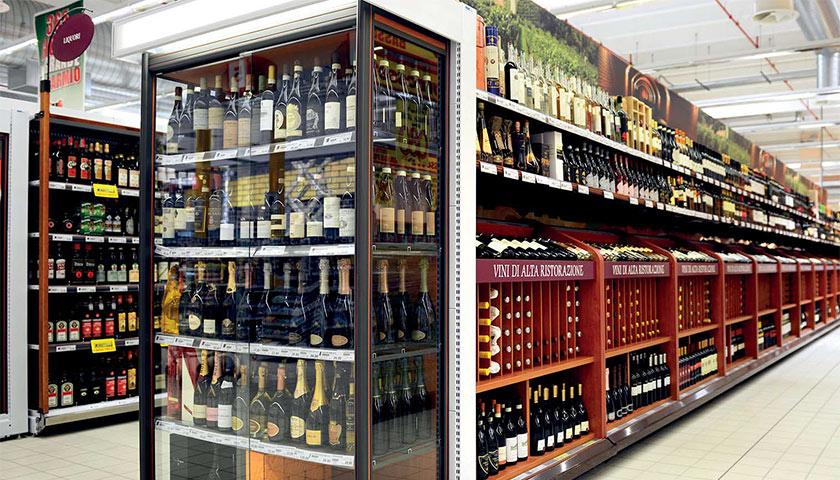 scaffalature per allestimento supermercato