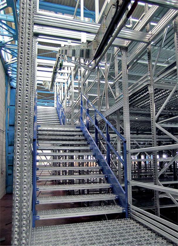 scala per soppalco in acciaio