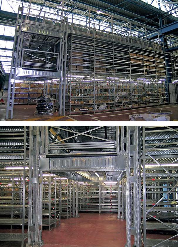 Soppalco industriale Metalsistem casa madre Block Sistem