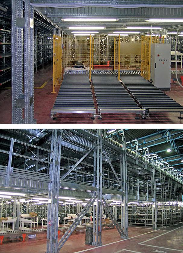 soppalco industriale integrato in magazzino dinamico