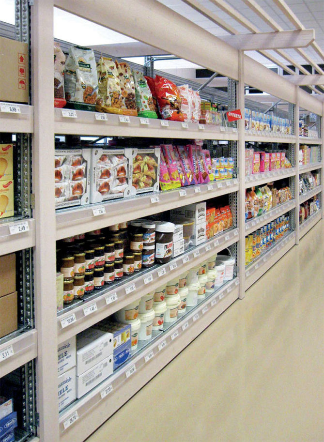 Scaffalature Per Negozi Alimentari.Scaffali Per Negozi Alimentari E Gdo Soluzioni Firmate Block Sistem