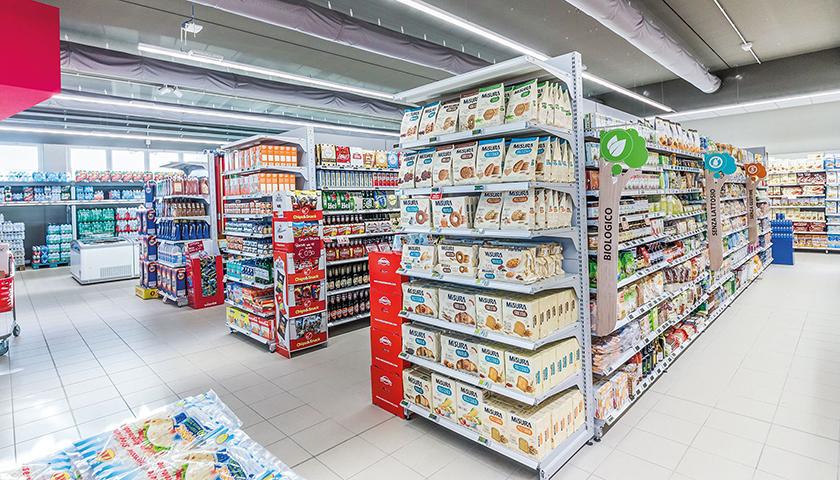 scaffalature supermercati e arredamento negozi alimentari