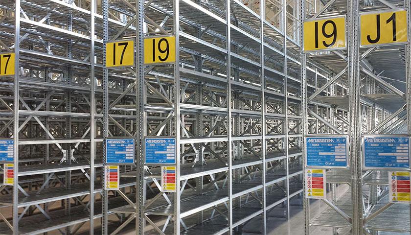 sistemi di scaffalature per magazzino