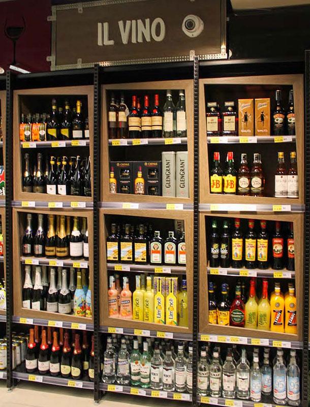 scaffale espositore per supermercato