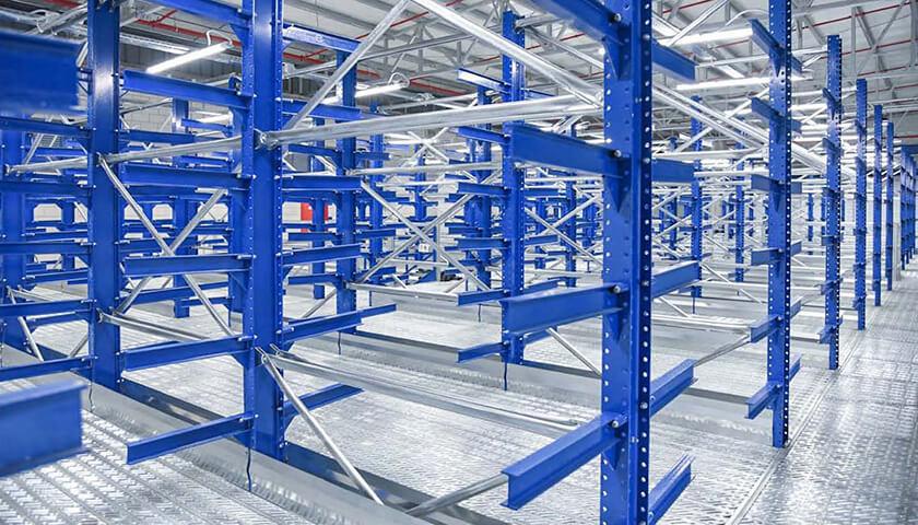 Scaffalature Per Stoccaggio.Scaffali Metallici Cantilever Unicant Per Stoccaggio Profili