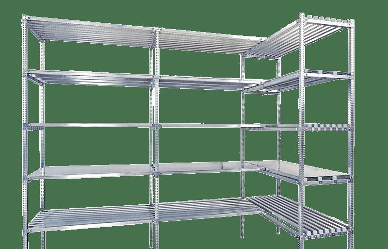 scaffalature in acciaio inox superinox per settore alimentare, chimico, farmaceutico