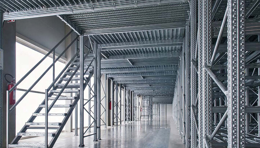 soppalco industriale magazzino abbigliamento