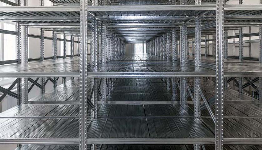 scaffalature metalliche compattabili per magazzino