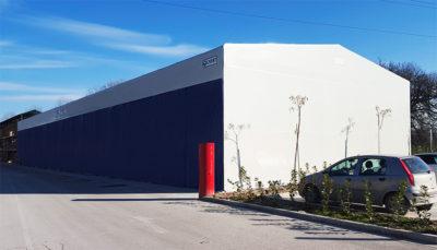 tunnel magazzino mobile in telo pvc