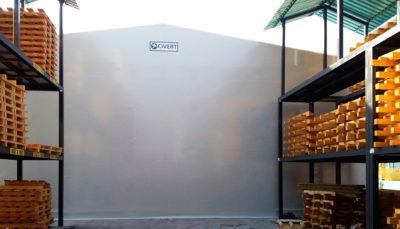 tunnel pvc con scaffalature metalliche pesaro urbino