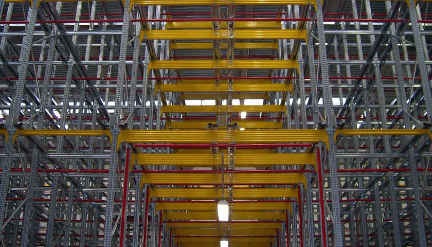 sistemi scaffalature magazzini a gravità